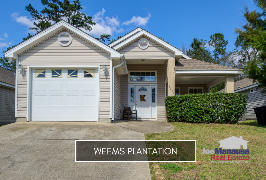 Weems Plantation holds more than 350 three and four bedroom homes with prices still below $200K, and buyers are grabbing them as fast as they hit the market.