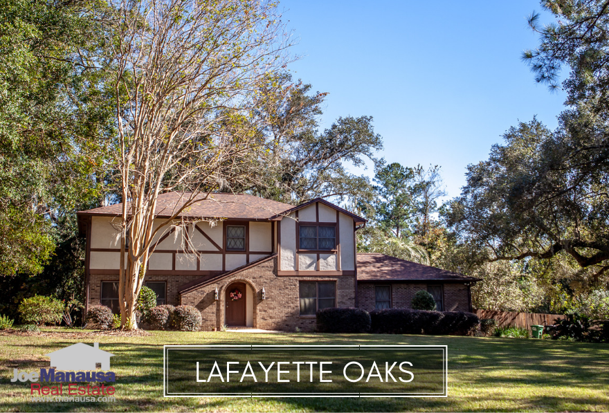 Lafayette Oaks is Tallahassee's first gated community and is located on the east side of town, located between Capital Circle and I-10 on the west side of Mahan Drive.