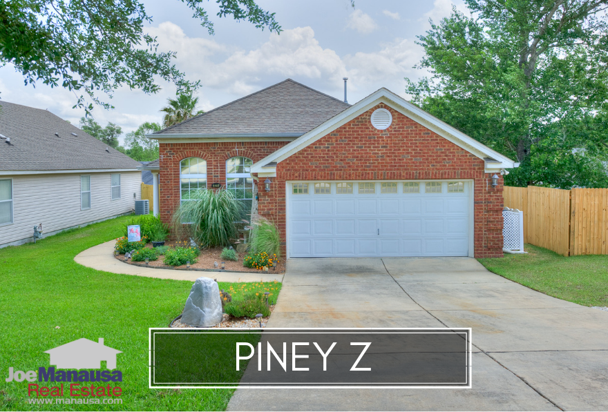 Piney Z is a popular Northeast Tallahassee neighborhood with most three and four bedroom homes that sold around a median price of $235K in 2018.