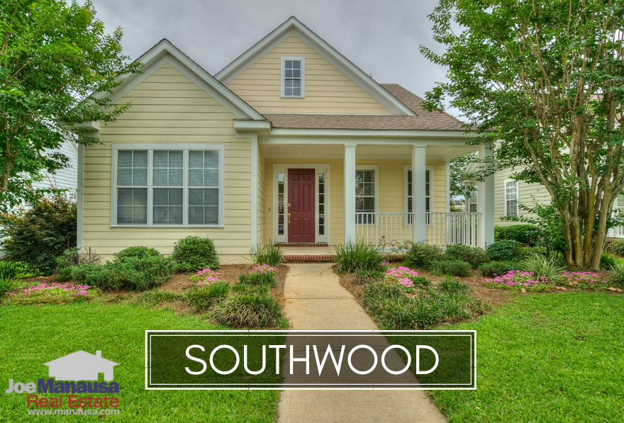 Southwood is the largest community in Southeast Tallahassee and currently has homes priced from as low as $170K to as high as $875K.