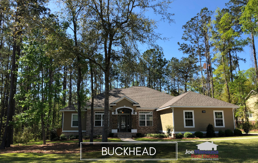 Buckhead is a popular Northeast Tallahassee neighborhood that features larger, newer homes than most in the immediate area.