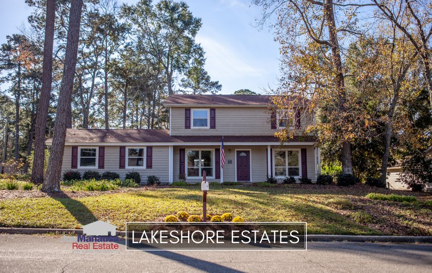 Lakeshore Estates is a popular neighborhood on the north side of town, filled with highly desirable three and four bedroom homes.
