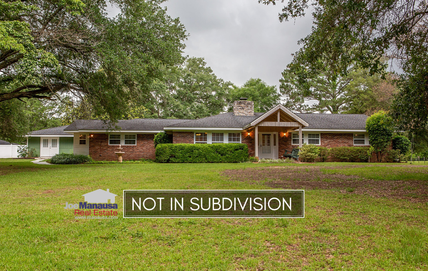 We routinely write about the neighborhoods in Tallahassee where most homes sell, but there is a healthy portion of our market that transacts outside of formal subdivision boundaries.