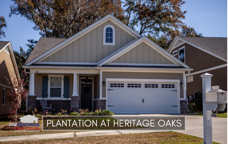 Plantation at Heritage Oaks offers both attached and detached 3 and 4 bedroom single family homes, built from 2006 through last year.