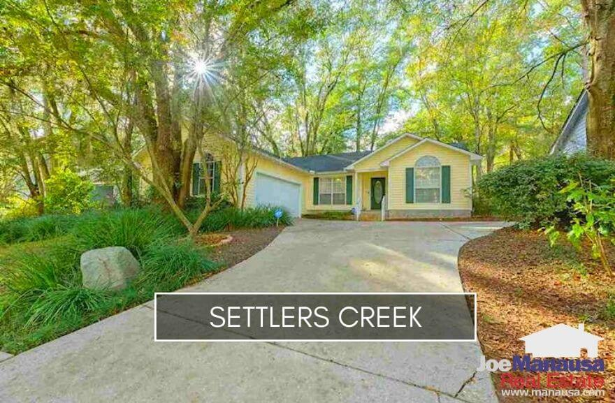 Settlers Creek is a popular NW Tallahassee neighborhood filled with 214 single-family detached homes and 96 townhomes.