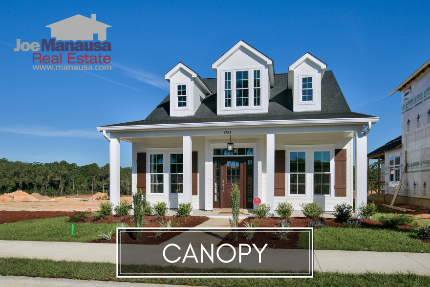 Canopy is a brand new master planned community in Northeast Tallahassee, located at the intersection of Fleischmann Road and Centerville Road.