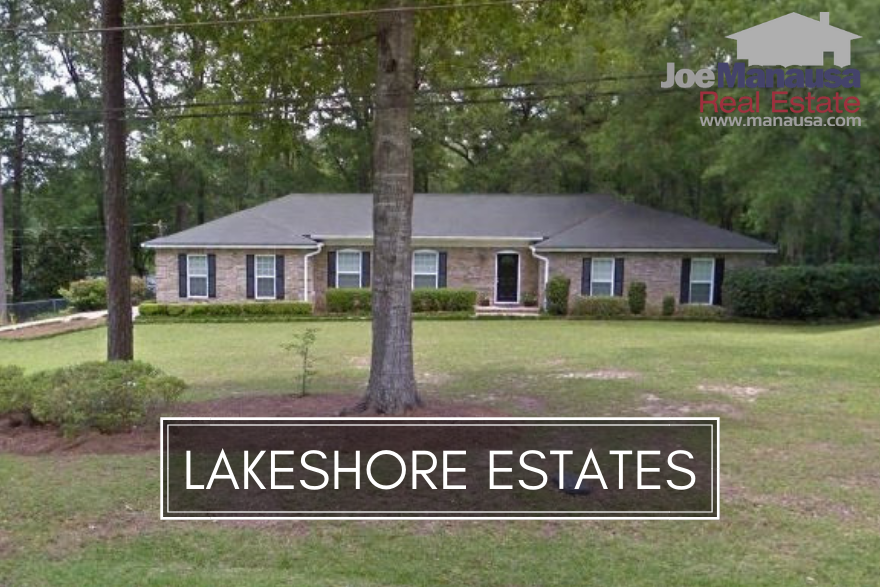 Lakeshore Estates is located just north of midtown on the west side of Meridian Road, and features both three and four bedroom homes built from the late 1960s through the early 2000s.