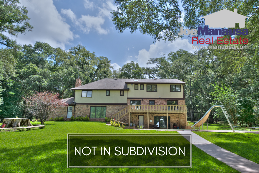 The Tallahassee Real Estate Blog regularly writes about the most active neighborhoods in our market area, but there is a healthy segment of homes sold each year that are not located within the confines of a formal subdivision.