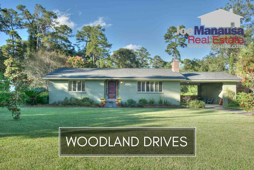 If you want more than a home, perhaps a historic masterpiece like the one pictured above, you'll need to be shopping in Woodland Drives in downtown Tallahassee.