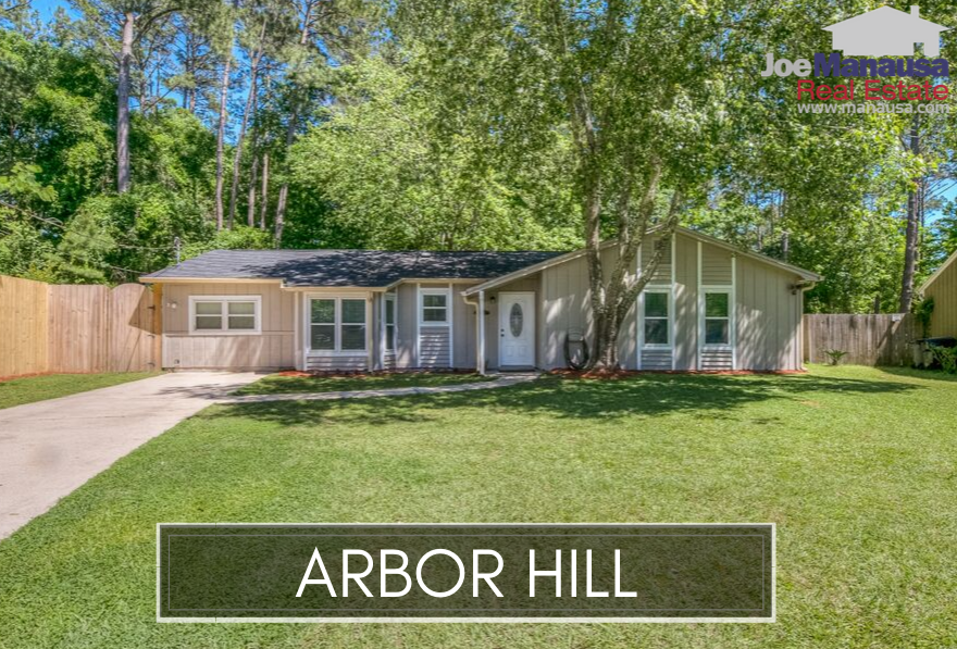 Arbor Hill is a super-high demand neighborhood located in NE Tallahassee, adjacent to popular Killearn Estates.