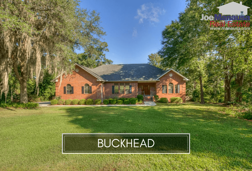 Buckhead is a NE Tallahassee neighborhood that contains about 160 larger homes on half-acre sized lots and serves to expose an interesting secret of the real estate industry.