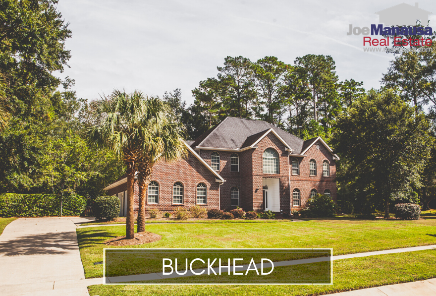 Buckhead is a small but popular neighborhood in NE Tallahassee that is home to 160 large houses situated on 1/2 acre lots (and some larger).
