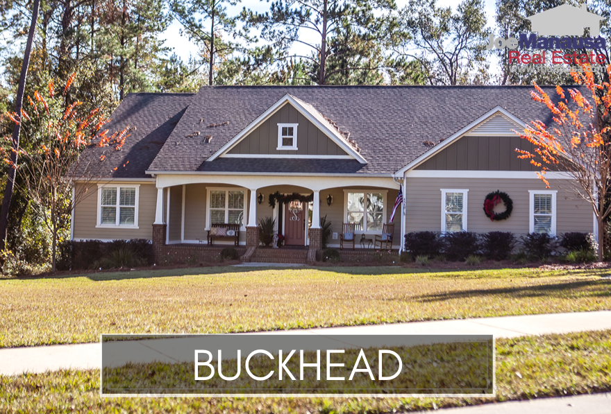 Buckhead is a popular Northeast Tallahassee neighborhood located across from Cameron Chase on Centerville Road in the 32309 zip code.