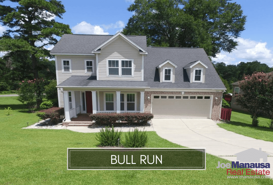 Bull Run is a popular NE Tallahassee neighborhood with 380 newer four and three-bedroom homes on smaller lots.