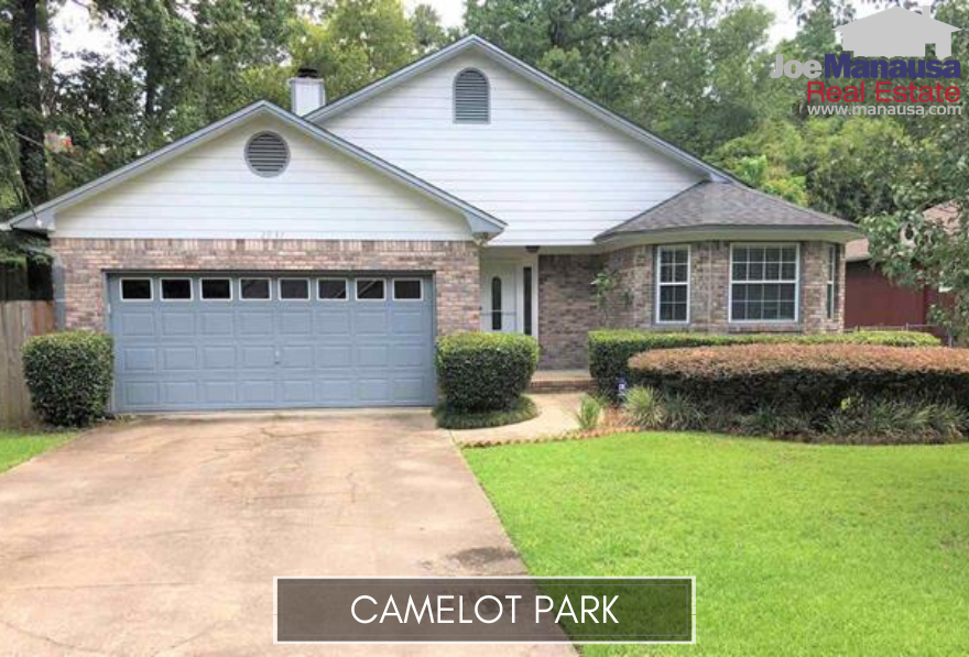 Camelot Park is a popular downtown Tallahassee neighborhood located on the west side of Richview Road (just west of Capital Circle NE) and South of Park Avenue.
