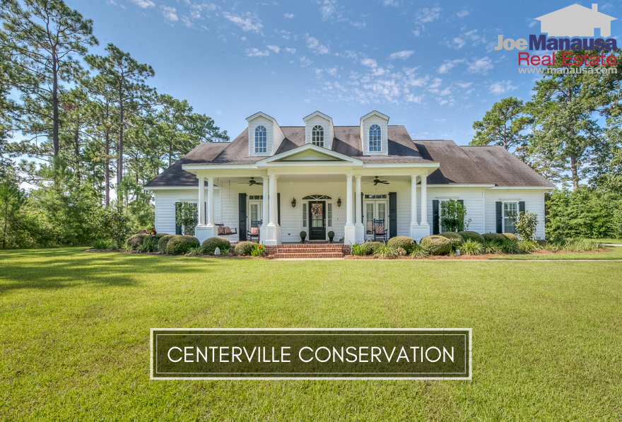 Centerville Conservation is a Northeast Tallahassee high-end-home neighborhood that is located on the west side of Centerville Road just beyond Bradfordville Road.