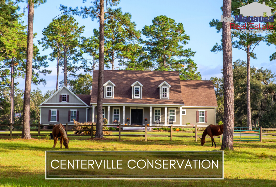 Centerville Conservation is a NE Tallahassee neighborhood has new and almost new large luxury homes on homesites from one to several acres.