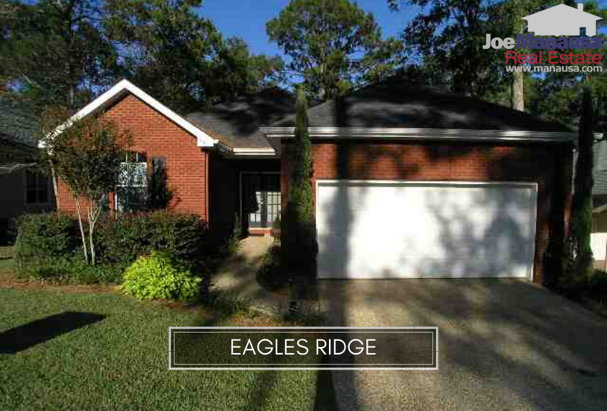 Eagles Ridge in NE Tallahassee is a patio home community filled with 127 single-family detached three and four-bedroom homes.