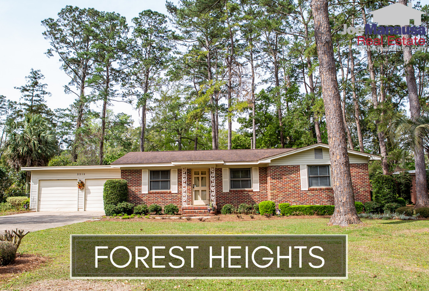Forest Heights is a central Tallahassee neighborhood located on the north side of Tharpe Street across from Godby High School.  Featuring well appointed homes built from the 1950s through the 1980s, Forest Heights homes are an absolute steal right now. People who have bought recently and who buy through 2019 will be fortunate enough to