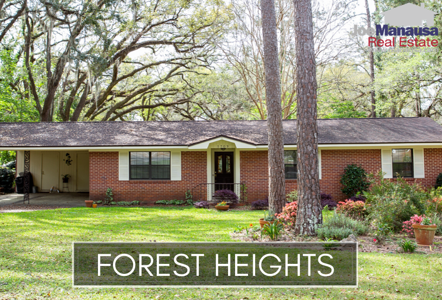 Located centrally in Tallahassee on the east-side of the NW segment of town across from Godby High School, Forest Heights is loaded with homes built from the 1950s through the 1980s, making them perfect to buy, renovate, and modernize.