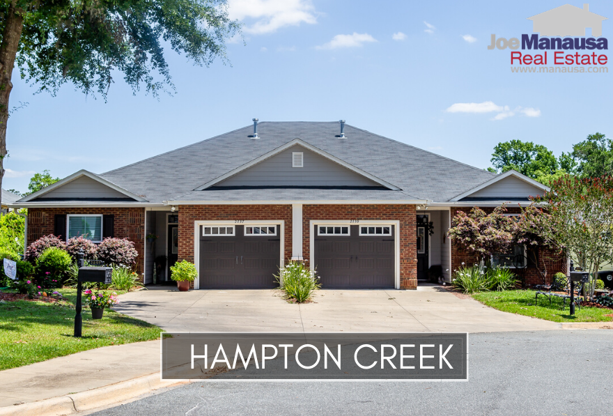Hampton Creek is a popular SE Tallahassee neighborhood that features roughly 200 attached and detached single-family homes.