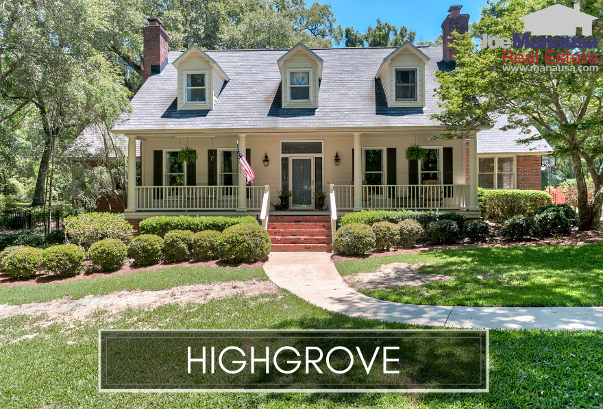 Highgrove in Northeast Tallahassee is a very popular neighborhood of roughly 130 large four and five bedroom homes situated on large, mature lots.