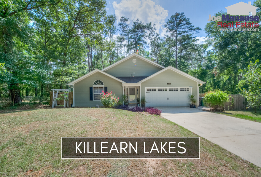 Killearn Lakes Plantation features a wide range of home styles, sizes, and prices, with access a growing retail sector, A-rated schools, walking trails and so much more.