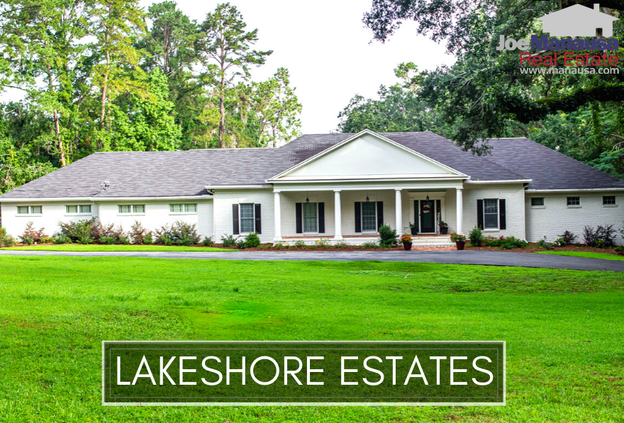 Lakeshore Estates is a popular NW Tallahassee neighborhood located just north of I-10 on the west side of Meridian Road, the East-West divider for Tallahassee, meaning these homes are super-close to Northeast Tallahassee.