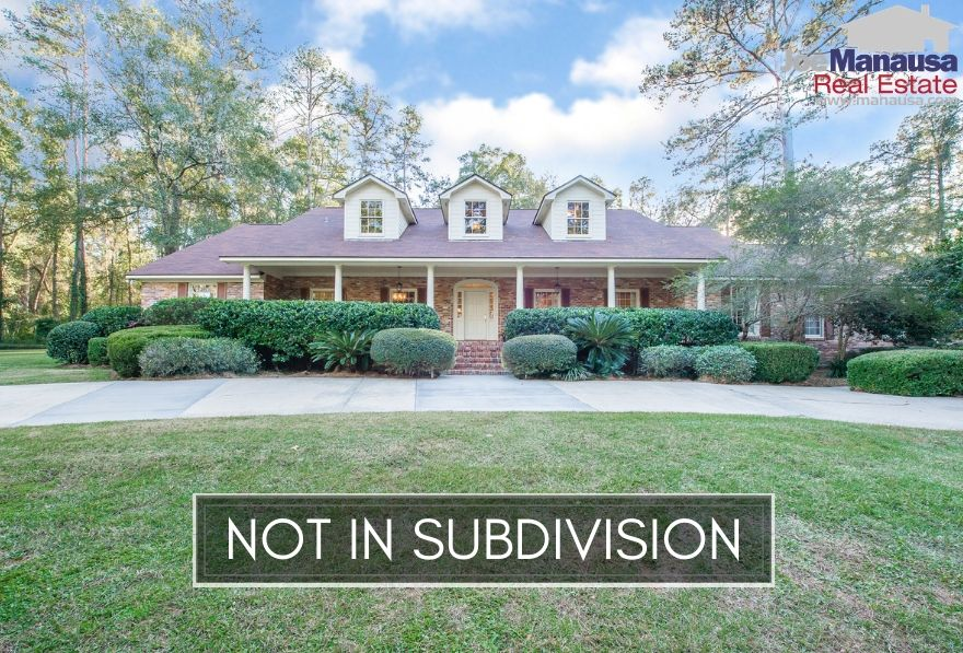 While most homes in Tallahassee are legally identified as part of a formal subdivision, there are thousands that exist