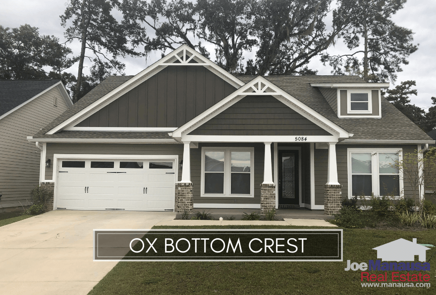 Ox Bottom Crest is a super popular Northeast Tallahassee neighborhood of 150 homes that were all built within the past five years.