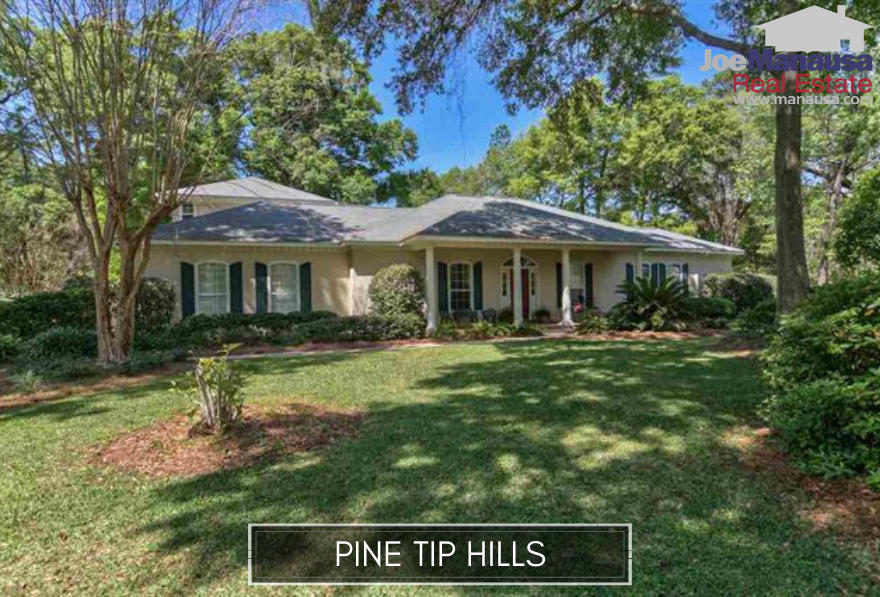 Pine Tip Hills is a small but popular neighborhood located on the north side of Rhoden Cove Road just west of North Meridian Road.