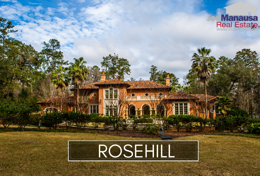 Rosehill in NE Tallahassee is located just south of Ox Bottom Road on the east side of Meridian Road.