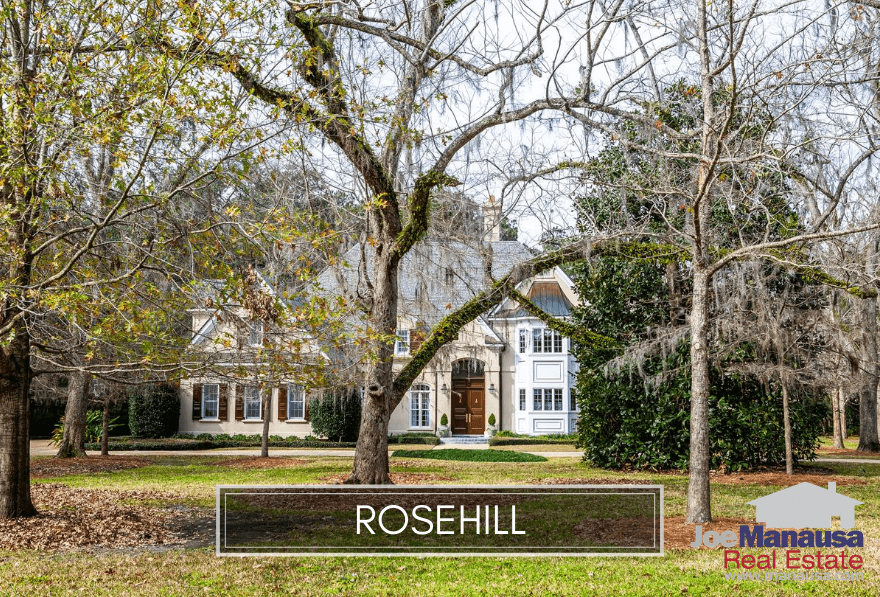 Rosehill is located in the popular 32312 zip code, south of Ox Bottom Road on the east side of Meridian Road.