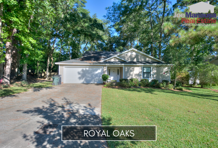 Royal Oaks in NE Tallahassee is located on the east side of the Thomasville Road Corridor and serves as part of the western edge of Killearn Estates.