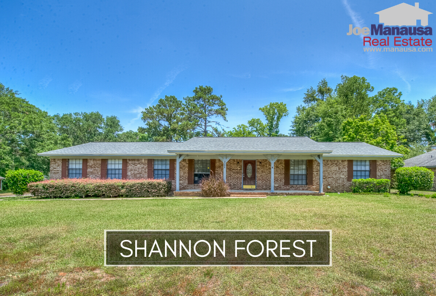 Shannon Forest is a popular Northeast Tallahassee neighborhood that is located on the east side of the Thomasville Road Corridor, just west of Killearn Estates.