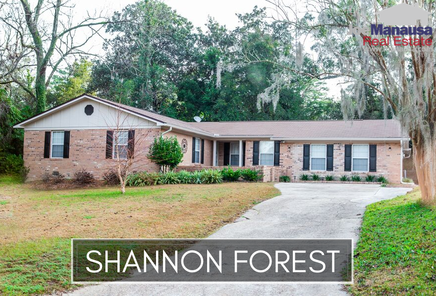 Shannon Forest is located just west of Killearn Estates in NE Tallahassee, offering similar homes at similar values as its larger neighbor.
