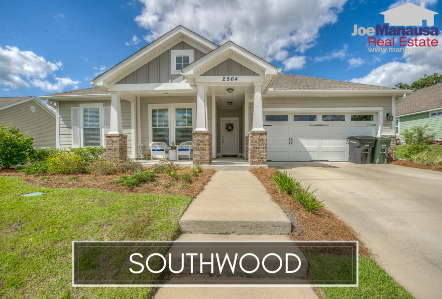 Southwood is a planned community development located in the SE quadrant of the Tallahassee real estate market and is the location of the Florida State High School, John Paul II Catholic School, and the State of Florida Capital Circle Office Complex