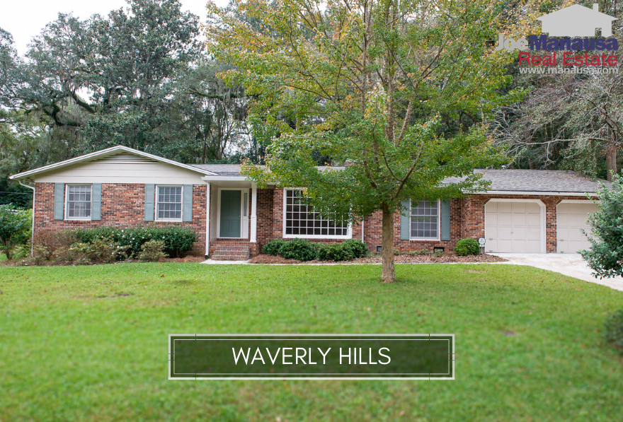 Waverly Hills is a popular NE Tallahassee located north of Midtown on the west side of Thomasville Road.