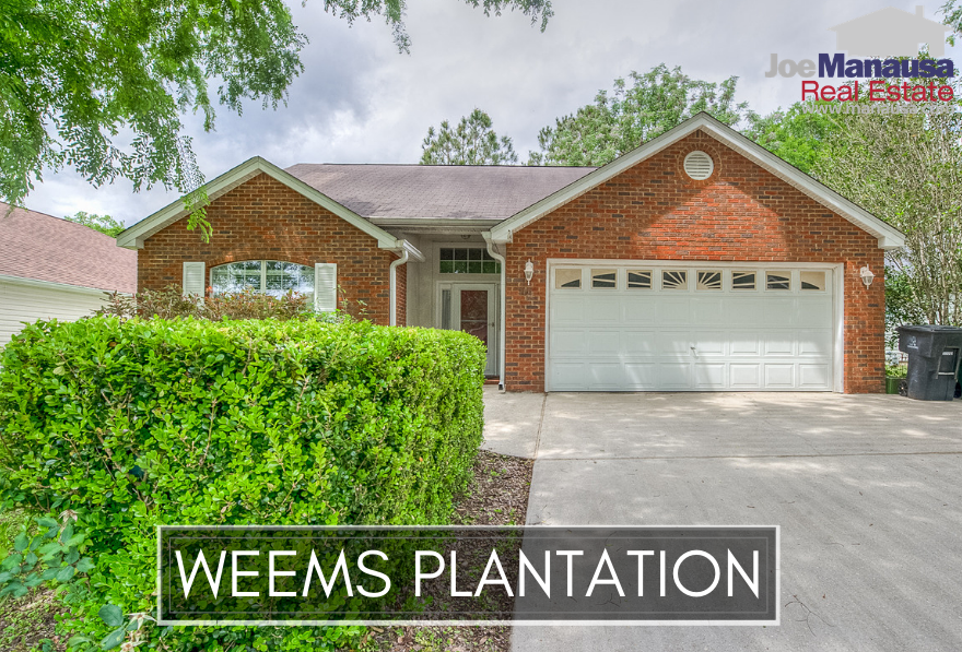 Weems Plantation is located between Capital Circle NE and Buck Lake Road, so it is highly desirable and homes here are selling fast.