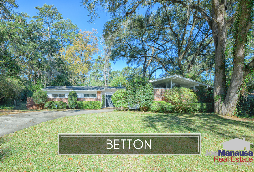The Betton area in Midtown Tallahassee holds some of the highest demand homes in Tallahassee, offering larger than average homes in a prime location.