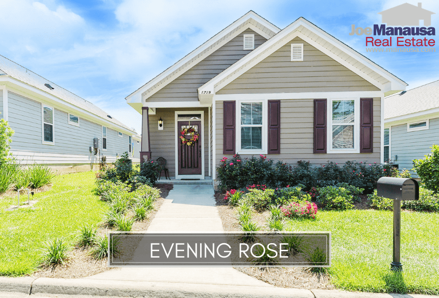 Evening Rose is a small but popular growing neighborhood that will have fewer than 80 four and three-bedroom homes in a great downtown setting.