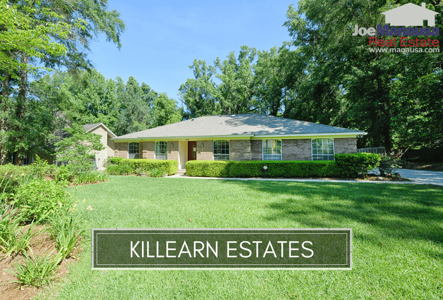 Killearn Estates is one of Tallahassee's larger neighborhoods with more than 3,800 homes that were all built since the 1960s.
