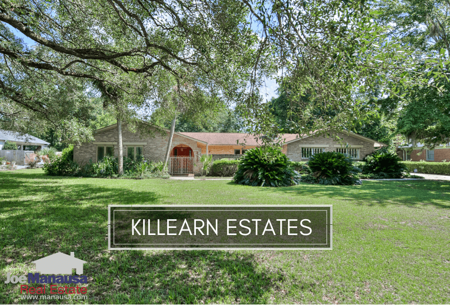 Killearn Estates is a large Northeast Tallahassee community, filled with roughly 3,800 homes priced from the mid $100Ks to a few handfuls of $500K.