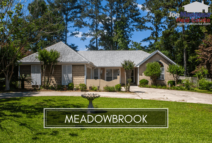 Meadowbrook in NE Tallahassee is conveniently located near the intersection of Capital Circle Northeast and Mahan Drive.