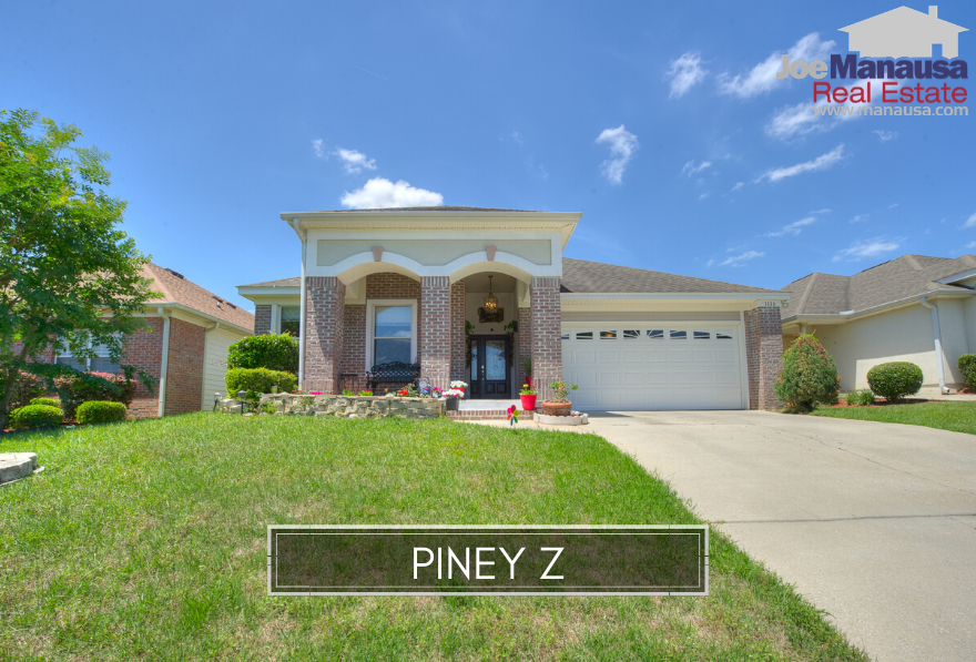 Piney Z is a popular Northeast Tallahassee neighborhood filled with most 3 and 4-bedroom detached and attached single-family homes.