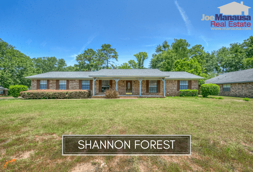 Shannon Forest is a hot Northeast Tallahassee neighborhood filled with roughly 275 three and four-bedroom that were mostly built in the 1970s and 1980s.