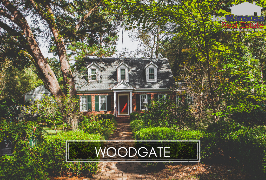 Woodgate is a popular NE Tallahassee neighborhood filled with more than 220 three, four, and five-bedroom homes.