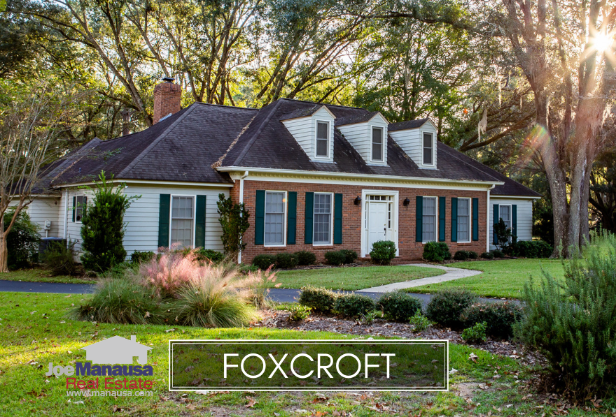 Foxcroft is a very popular neighborhood filled with three and four bedroom homes along the Thomasville Road corridor in NE Tallahassee.