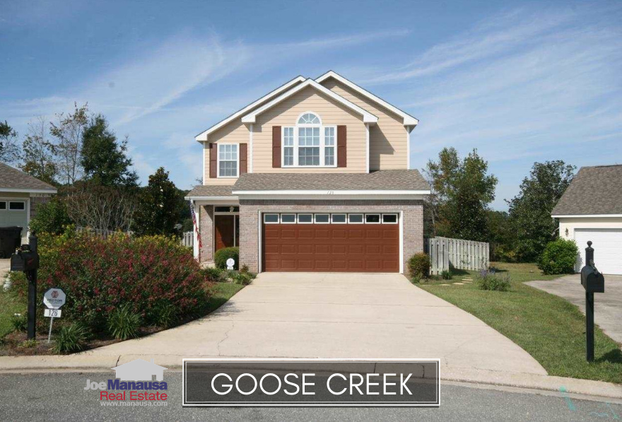The Goose Creek neighborhood consists of two adjacent neighborhoods, Goose Creek Meadows and Goose Creek Fields, and they are located in the super-hot 32317 zip code.
