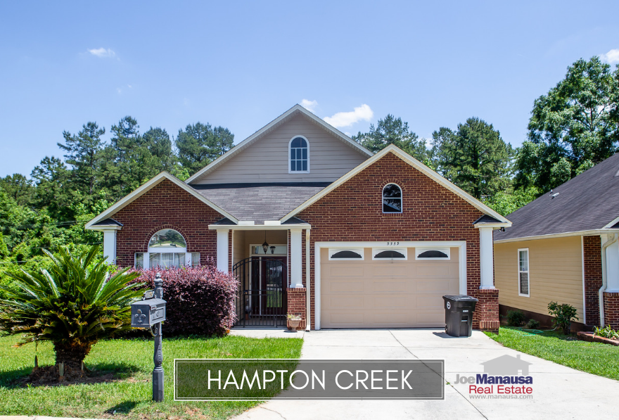 Hampton Creek in SE Tallahassee is a fourteen-year-old neighborhood that offers the newer types of homes that are so popular in Tallahassee today.